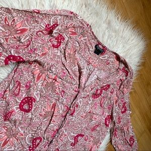 Lucky Brand Floral Paisley Blouse